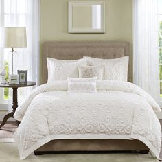 Harbor House Suzanna Full/queen Duvet Cover Set - Create a cozy look in your bedroom with the classic Harbor House Suzanna Duvet Cover Set. Accented with a large chain stitch embroidered, the beautiful bedding is the perfect addition to any room's décor. King Duvet Cover Sets, King Comforter Sets, Comforter Cover, Duvet Sets, Duvet Covers, Queen Duvet, Beach Comforter, Red Comforter, Ivory Bedding