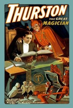 Thurston: the great magician 12x18 Giclee on canvas