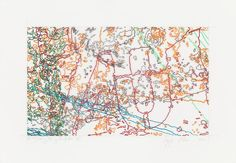 INGRID CALAME  #297 Drawing (Tracings from Buffalo, NY), 2008  Color pencil on trace mylar  18 X 26 inches