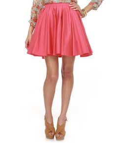 Love fuller skirts and the fun pink color!