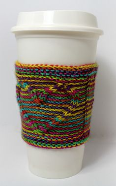"""Free Knitting Pattern for Heart Cup Cozy - Easy pattern """"I'd Love Some Coffee"""" by Thaddeus Nelson - Ideas In Crafting Knitted Heart Pattern, Cable Knitting Patterns, Loom Knitting, Free Knitting, Crochet Patterns, Crochet Ideas, Knitted Coffee Sleeve, Coffee Cozy Pattern, Knitting Accessories"""