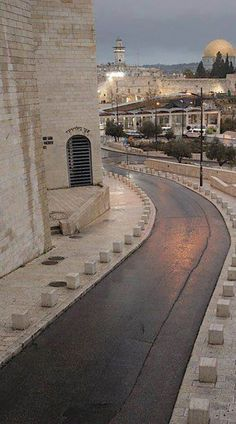 This is the street that leads to the Western Wall In Jerusalem. (V)