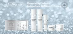 "1st AVENUE cosmetics - ""Forever Young collection"". Hyaluronic acid treatment. 1. Toner - 140ml. Moisturizing & Refreshing. 2. Lotion - 140ml. Regeneration & Recovery. 3. Serum - 30ml. Anti-wrinkle & Lifting. 4. Facial cream - 50ml. Moisturizing & Firming. 5. Eye cream - 30ml. Brightening & Anti-aging."