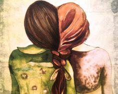 arte de hermanas impresión con cita por claudiatremblay en Etsy