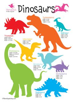 Dinosaur Nursery Kids Room Art by TBoneSquid on Etsy, $18.00