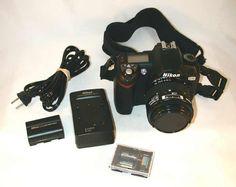 2004 Nikon D70 Digital SLR Camera 35-70mm Nikkor Lens Battery and Backup Packs with Charger