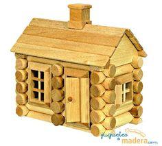 12 Mejores Imagenes De Casita De Madera Kids House Dollhouses Y - Cabaas-de-madera-para-nios