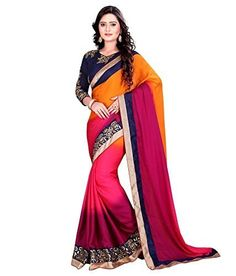 Khazanakart fashion multi colour georgette saree khazanakart http://www.amazon.in/dp/B01GEE1FGI/ref=cm_sw_r_pi_dp_VEPtxb125ZSGG