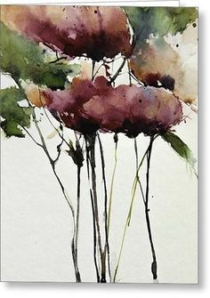 Wild Roses Greeting Card by Annemiek Groenhout