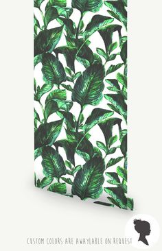 Vibrant Botanical Wall Mural Tropical Removable by Livettes