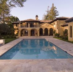 Antique Style Pool Pavers, Tumbled Grey Gold.