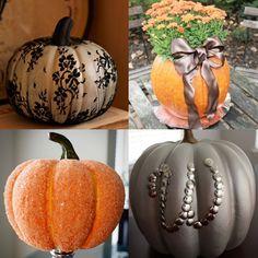 Pretty No-Carve Pumpkin Ideas