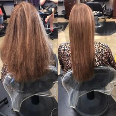Before and after Keratin complex treatment reduce frizz and cuts blow drying time on half #beforeandafter#keratintreatment#smoothhair#healthyhair#hairporn#behindthechair#modernsalon#brokenarrowstylist#brokenarrowcolorist#oklahomastylist#katyemarie#bookwithme