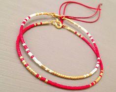 Kleine parel armband Maasai Afrikaanse armband door ToccoDiLustro