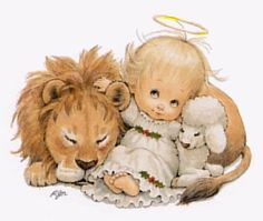 and the lion will lay down with the lamb... Revelation 5:5-6