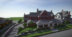 Beautiful Mansion House in Minecraft. Beautiful Mansion House in Minecraft. Minecraft Building Designs, Minecraft Villa, Minecraft Palace, Minecraft City, Minecraft Construction, Minecraft Architecture, Minecraft Projects, Building Ideas, Minecraft Buildings