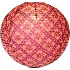 Ikat Print Designer Paper Lantern (18-Inch, Rose Red) ($13) ❤ liked on Polyvore featuring home, home decor, paper lanterns, chinese lanterns, cultural intrigue, rose home decor and red home decor