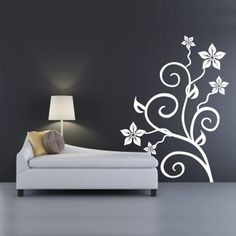 I should definitely choose a flower pattern for the wall of my terrace Wall Stickers, Wall Decals, Wall Art, Blossom Flower, Tree Wall, Elegant, Flower Patterns, House, Terrace