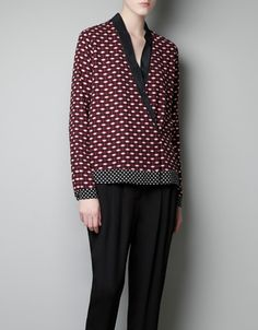 CROSSOVER PRINTED BLOUSE - Woman ZARA