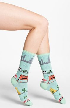 Hot Sox 'Retro Roadtrip' Socks (3 for $15) available at #Nordstrom