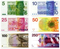 Dutch currency designs before the Euro came along