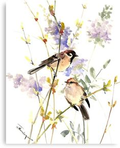 Millions of unique designs by independent artists. Find your thing. Watercolor Trees, Watercolor Animals, Watercolor Landscape, Watercolor Paintings, Watercolour, Watercolor Artists, Watercolor Portraits, Abstract Paintings, Sparrow Drawing