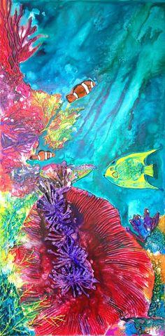 TheOriginals.net.au  Artist of the week is Wendy-Sinclair - http://blog.v-i-o.com/theoriginals-net-au-artist-week-wendy-sinclair/ - http://blog.v-i-o.com/wp-content/uploads/2015/01/Wendy-Sinclair-Coral-Reef-46-2WSTO1-443x900.jpg
