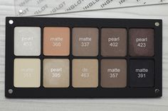 my inglot neutral palette #453 #368 #337 #402 #423 #351 #395 #463 #357 #391 #inglot #cosmetics #eyeshadow #palette