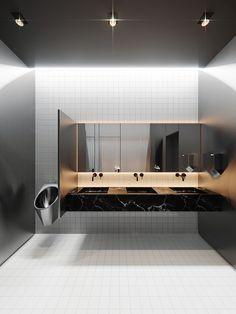 MONOLIT on Behance Wc Design, Toilet Design, House Design, Logo Design, Coffee House Interiors, Office Interiors, Washroom Design, Modern Bathrooms Interior, Public Bathrooms