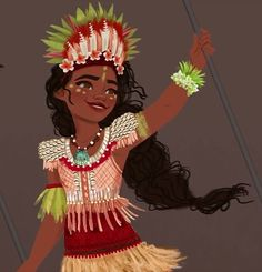 Moana's outfit concept art