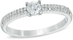 Zales 1/3 CT. T.W. Diamond Engagement Ring in 10K White Gold