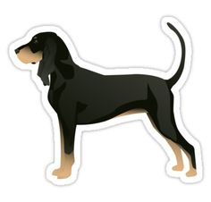Black and Tan Coonhound Basic Breed Design by TriPodDogDesign