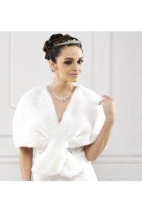 boleros en faux vison fourrure accessoires mariage mariee - Bolero Plume Mariage