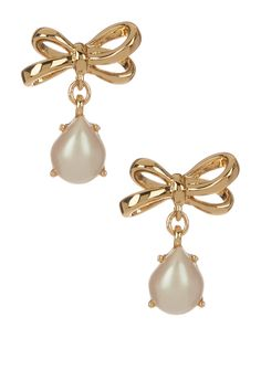 Bow Faux Pearl Drop Earrings By Kate Spade New York On Nordstrom Rack