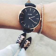 We love baes in @clusewatches⌚️ Get yourself the La Boheme watch $149 in double black: www.muraboutique.com.au  #muraboutique