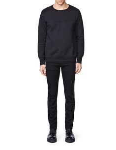 Zig sweatshirt-Men's sweatshirt in cotton-fleece blend. Features all-over cut and sewn decorative seams. Bottom hem and cuffs in main fabric. Below-hip length. Men's Sweatshirts, Tiger Of Sweden, Cotton Fleece, Cuffs, Normcore, Sewing, Fitness, Fabric, Fashion