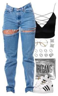 """""""Untitled #1550"""" by power-beauty ❤ liked on Polyvore featuring ASOS and adidas"""
