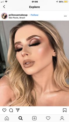 how to do natural makeup step by step with pictures Baddie Makeup, Sexy Makeup, Kiss Makeup, Glam Makeup, Beauty Makeup, Face Makeup, Hair Beauty, Makeup Eye Looks, Eyeshadow Looks