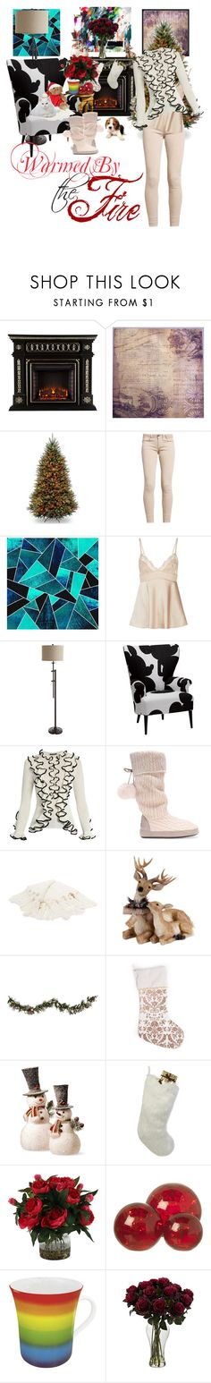 """""""Cure For Chills"""" by april-wilson-nolen ❤ liked on Polyvore featuring Pier 1 Imports, Ethan Allen, Alexander McQueen, Improvements, National Tree Company, Helen Moore, Parlane and Könitz"""