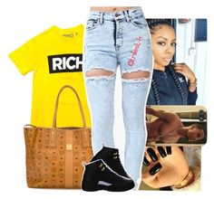 """I pull up & shoot at ya mans"" by trillest-k ❤ liked on Polyvore featuring MCM and NIKE"