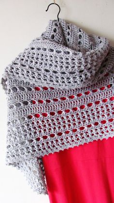 "Northern Sea is a triangular shape shawl crocheted from the top down. It starts from the eyelet rows and ends with a textured knitted-look border made of crossed stitches.  Size is easily adjustable by skipping\adding more repeats both in eyelet and border sections.  Finished size: 69"" x 30"" (175 x 75 cm)  Pattern both written and charted.  Materials needed: • 4 skeins of DK weight yarn, about 220 yards (200 meters) per 100 grams. You will need 750 yards (690 meters) total. • 5 mm (H) hook •…"