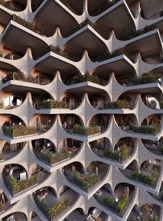Penda has designed a residential tower in Tel Aviv, with facades made of modular archways, which aims to compliment the city's Bauhaus architecture. Tel Aviv, Bauhaus Architecture, Modern Architecture, Facade Design, Exterior Design, Zaha Hadid, Brick Arch, Tower Design, Brickwork