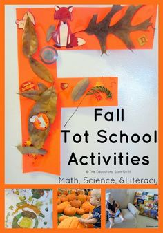 Fall Tot School Activities including Math, Science & songs!!!!!!