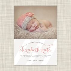 Photo Birth Announcements - Baby Announcement Photo Cards - Sophisticated Stripes on Etsy, $27.50
