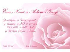 Svadobné oznámenie - SO017