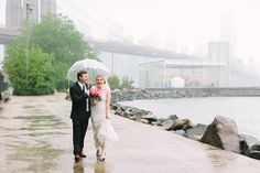 Couples discuss how to cope with rain on your wedding day.