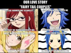 Ahhh, the amazing tale of Gajeel and Levy's romance. xD