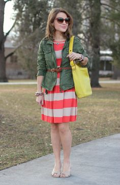 love the stripes with the jacket!
