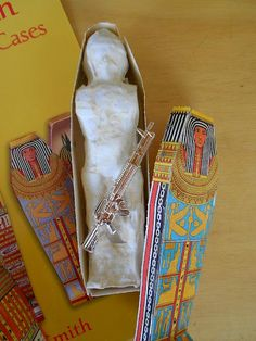 too cool!!!  Mystery of History - Make a mummy out of an action figure.