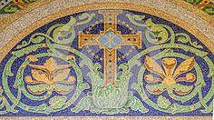 мозаика Кристиан крест символ четырехпроводной… ро один самый ранний формы Христограмма